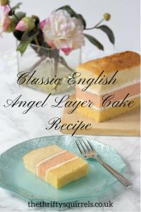 Classic English Angel Layer Cake Recipe
