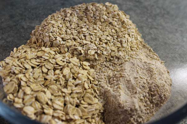 the different types of oats add to the the finished texture