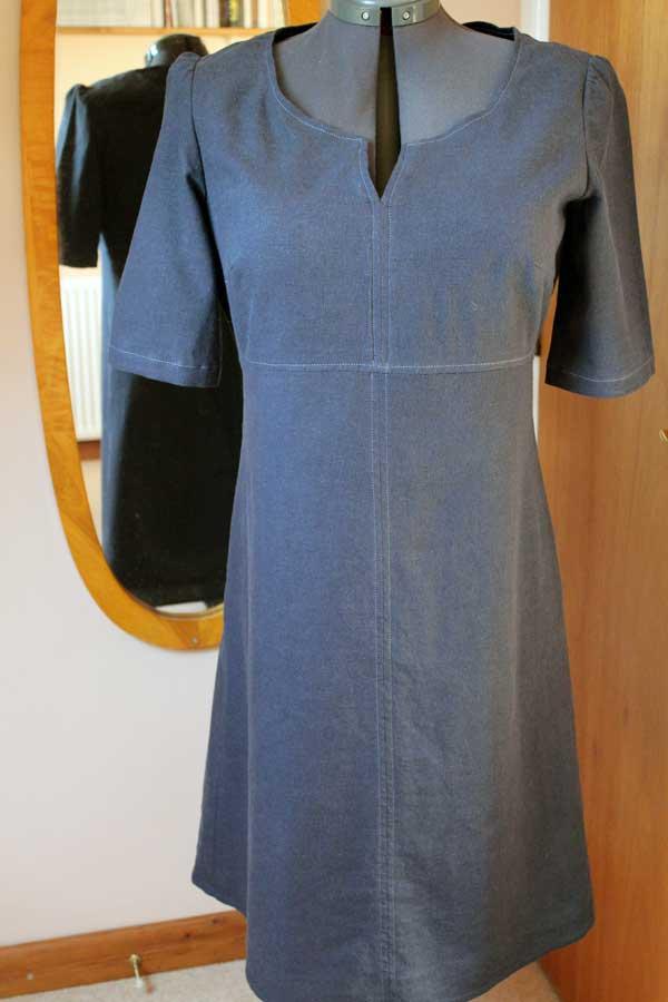 Vogue V8764 dressmaking pattern - the finished dress