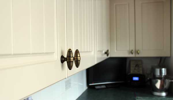 Hand pained kitchen cabinets