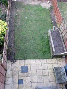the 10m x 5m edible garden BEFORE