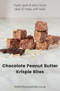 Chocolate Peanut Butter Krispie Bites
